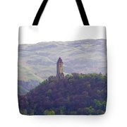 View Of Wallace Monument From The Heights Of The Stirling Castle Tote Bag