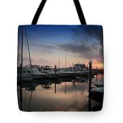 Yachts At Sunset Tote Bag