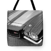 71 Camaro Z28 In Black And White Tote Bag