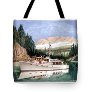 75 Foot Classic Bridgrdeck Yacht Tote Bag by Jack Pumphrey