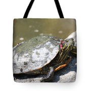 75 Year Old Turtle Moving On Tote Bag