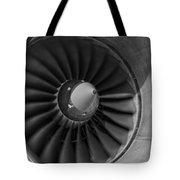 757 Engine Black And White Tote Bag