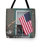 #762 D68 American Flag Winter Tote Bag