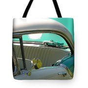 #766 D86 Mini Holiday Oldsmobile Antique Cars  Tote Bag