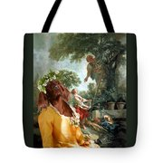 Irish Setter Art Canvas Print Tote Bag