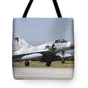 A Qatar Emiri Air Force Mirage Tote Bag
