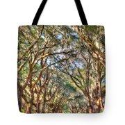 Plantation Allee Of Oaks Tote Bag