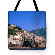 Amalfi Town In Italy Tote Bag by George Atsametakis
