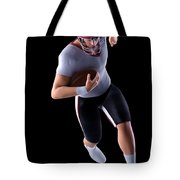 American Football Player Tote Bag