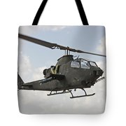 An Ah-1s Tzefa Attack Helicopter Tote Bag