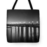 Bridge Of Lions St Augustine Florida Painted Bw Tote Bag