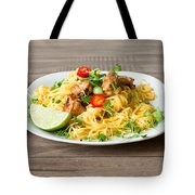 Chicken Noodles Tote Bag by Tom Gowanlock