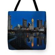 Columbus Ohio Skyline At Night Tote Bag