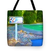 8 Hole Sign On  Golf Course Tote Bag