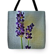 Lavender On Linen Tote Bag