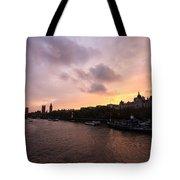 London Skyline Sunset Tote Bag