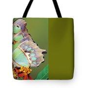 Malachite Butterfly Tote Bag