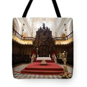 Mezquita Cathedral Interior In Cordoba Tote Bag