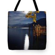 Moon Light Over An Alpine Lake Tote Bag