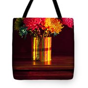 Multicolored Chrysanthemums In Paint Can Tote Bag