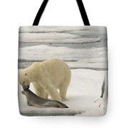 Polar Bear With Fresh Kill Tote Bag