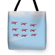 Red Arrows Tote Bag