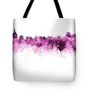 Rio De Janeiro Skyline In Watercolor On White Background Tote Bag