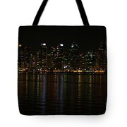 San Diego Skyline Night Tote Bag