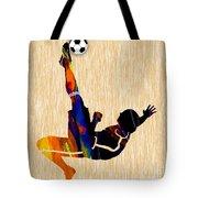 Soccer Player Tote Bag