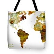 Abstract Map Tote Bag