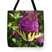 Yellow Tiger Swallowtail Papilio Glaucus Butterfly  Tote Bag