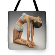 Yoga Camel Pose Tote Bag