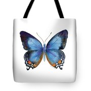 80 Imperial Blue Butterfly Tote Bag
