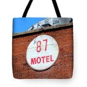 87 Motel Tote Bag