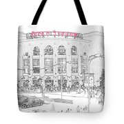 8th And Clark Busch Stadium Sketch Tote Bag