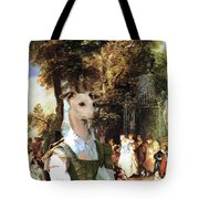 Italian Greyhound Art Canvas Print  Tote Bag