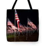 9-11 Flags Tote Bag