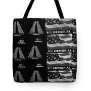 9/11 Memorial For Sale In Black And White Tote Bag