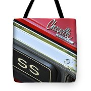 1970 Chevrolet Chevelle Ss Taillight Emblem Tote Bag