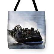 A Landing Craft Air Cushion Transits Tote Bag