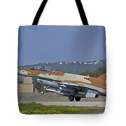 An F-16d Barak Of The Israeli Air Force Tote Bag