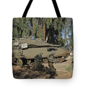 An Israel Defense Force Merkava Mark II Tote Bag
