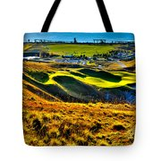 #9 At Chambers Bay Golf Course - Location Of The 2015 U.s. Open Tournament Tote Bag by David Patterson
