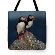 Atlantic Puffins Fratercula Arctica Tote Bag