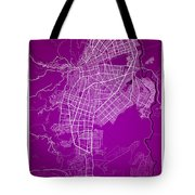 Cali Street Map - Cali Colombia Road Map Art On Colored Back Tote Bag