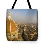 Brunelleschi's Dome At The Florence Cathedral  Tote Bag