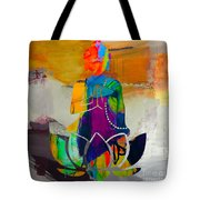 Buddah On A Lotus Tote Bag