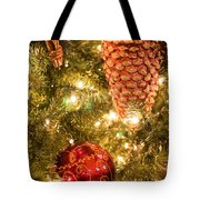 Christmas Tree Ornaments Tote Bag