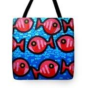 9 Happy Fish Tote Bag