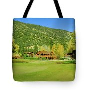 9-hole Golf Course In Autumn At Pine Tote Bag